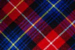 Checkered предпосылка ткани стоковое фото rf