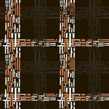 Checkered безшовная картина кириллических писем Стоковое Фото