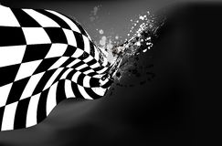 Checkered вектор предпосылки флага Стоковое фото RF