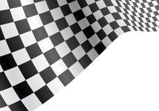 Checkered волна летания флага на черном дизайне градиента для вектора предпосылки чемпионата гонки спорта Стоковые Фотографии RF
