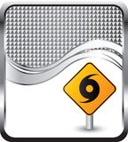 checkered волна предупреждения серебра знака урагана иллюстрация штока