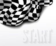 checkered гонка флага Стоковое Изображение