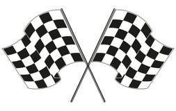 Checkered гонки флага Стоковая Фотография
