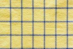 checkered желтый цвет ткани Стоковые Фотографии RF