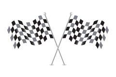 Checkered запас иллюстрации вектора флагов Стоковые Фото