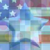 checkered звезда Стоковая Фотография