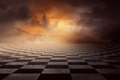 Checkered земля Стоковое Фото