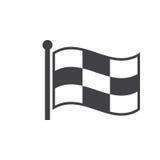 Checkered значок флага гонок, твердая иллюстрация логотипа, pict иллюстрация штока