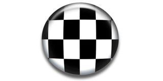 checkered икона круга Стоковая Фотография RF