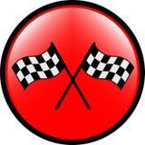 Checkered кнопка флага иллюстрация штока