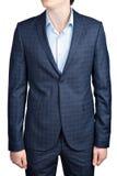 Checkered костюм для людей Стоковая Фотография