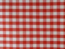 checkered красный цвет ткани Стоковое Изображение