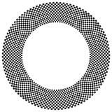 Checkered круговой элемент Абстрактный monochrome график с squ Стоковые Изображения