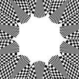 Checkered круговой элемент Абстрактный monochrome график с squ Стоковое Изображение