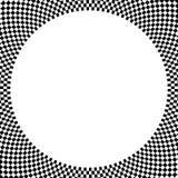 Checkered круговой элемент Абстрактный monochrome график с squ Стоковые Фотографии RF