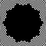 Checkered круговой элемент Абстрактный monochrome график с squ Стоковое Фото