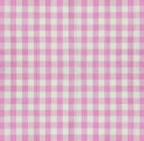 Checkered крупный план ткани Стоковые Изображения