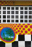 checkered окна стены Стоковое фото RF