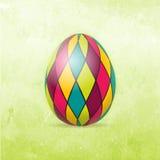 Карточка пасхи с цветастым пасхальным яйцом иллюстрация вектора
