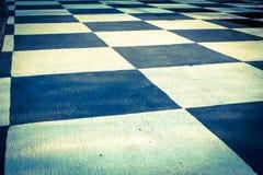 Checkered пол картины, винтажный светлый стиль. Стоковые Фото