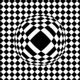 Checkered предпосылка, обман зрения, падение на плитке, balloo иллюстрация штока