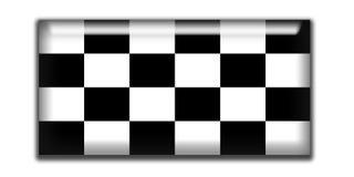 checkered прямоугольник иконы Стоковые Изображения RF