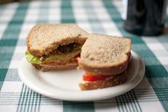 checkered пшеница таблицы сандвича ткани вся Стоковое Фото