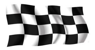 checkered развевать флага Стоковое Изображение
