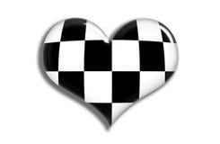 checkered сердце глянцеватое Стоковые Фотографии RF