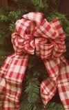 Checkered смычок Стоковые Изображения