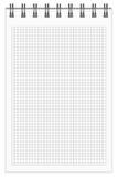 Checkered тетрадь Стоковое Изображение RF