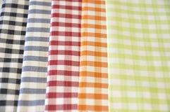 Checkered ткани картины Стоковая Фотография
