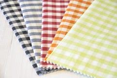 Checkered ткани картины Стоковые Фото