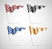 checkered установленные флаги Стоковые Фото