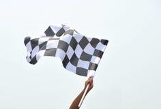 checkered участвовать в гонке флага стоковое изображение rf
