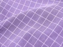checkered фиолет ткани Стоковое фото RF