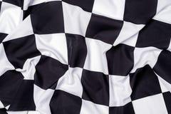 Checkered флаг, предпосылка гонки конца, конкуренция Формула-1 Стоковая Фотография RF