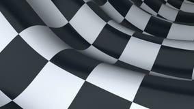 Checkered флаг спорта, безшовная петля сток-видео