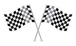Checkered флаги (флаги гонок). Стоковое Изображение