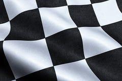 Checkered флаг, предпосылка гонки конца, Формула-1 Стоковая Фотография RF