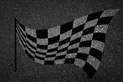 Checkered флаг, символ гонки спорт Стоковое Изображение