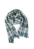 Checkered шарф изолированный на белой предпосылке Стоковая Фотография