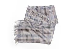 Checkered шарф изолированный на белой предпосылке Стоковые Изображения RF