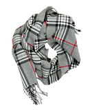 Checkered шарф изолированный на белой предпосылке Стоковая Фотография RF