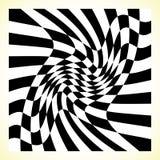 Checkered шахматная доска картины, доска контролера с искажением иллюстрация вектора