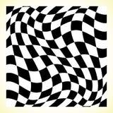 Checkered шахматная доска картины, доска контролера с искажением иллюстрация штока