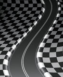 checkered дорога Стоковые Фотографии RF