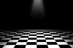 Черно-белый checkered пол Стоковое Изображение