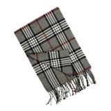 Checkered шарф изолированный на белизне Стоковое фото RF