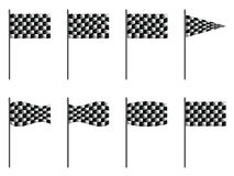 Checkered 3d flags Stock Photography